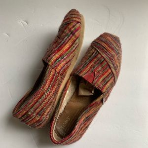 Toms Shoes - TOMS Striped Wool Slip On sz 7
